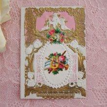 他の写真2: ヴィクトリアン・レースカード(天使とハープ)