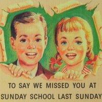 サンデースクールのポストカード