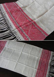 他の写真3: フレンチ織模様リネン、フリンジ付