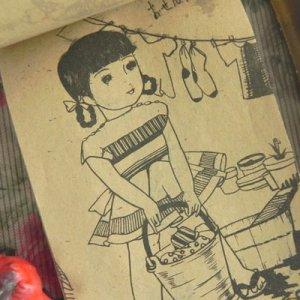 画像4:  【レトロ】ぬりえ&ビスクドールのセット
