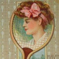 アンティークカード、テニス
