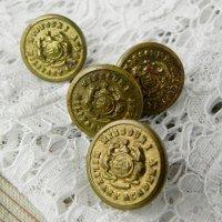 ミリタリーアカデミー、真鍮ボタン4個セット