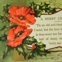 アンティークカード、クリスマス