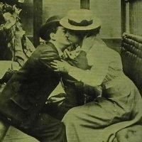 アンティークカード、kiss