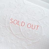 白刺繍モノグラムのフレンチリネン 在庫最終