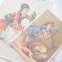 フレンチ・トレードカード2枚セット 〜お人形遊び〜