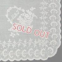 1800年代 白刺繍 ホワイトワークハンキー
