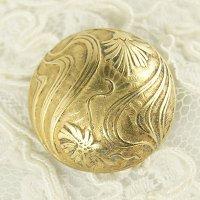 アールヌーボー真鍮ボタン直径2.4cm