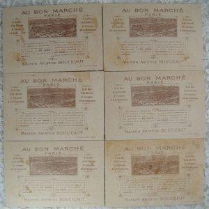 画像5: フランス、ボンマルシェカード、6枚セット
