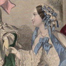 他の写真2: 1855年、フランス・ファッションプレート