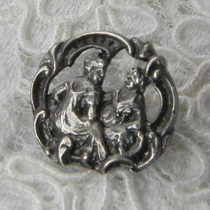 画像2: イギリス、銀製ボタン
