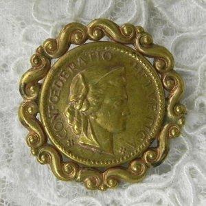 画像1: ブリティッシュ・真鍮ブローチ