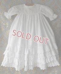 ♥スリップ付♥ ヴィクトリアン・ベビー洗礼式用ドレス
