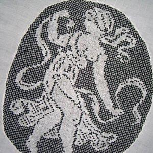 画像4: フィレレースと白刺繍のイタリアン・リネン・ラナー 1m72cmx50cm