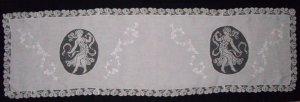 画像5: フィレレースと白刺繍のイタリアン・リネン・ラナー 1m72cmx50cm
