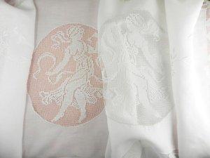 画像2: フィレレースと白刺繍のイタリアン・リネン・ラナー 1m72cmx50cm