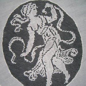 画像3: フィレレースと白刺繍のイタリアン・リネン・ラナー 1m72cmx50cm