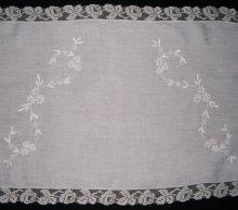 他の写真2: フィレレースと白刺繍のイタリアン・リネン・ラナー 1m72cmx50cm