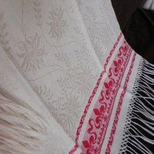 他の写真1: フレンチ・ダマスク織リネン、フリンジ付