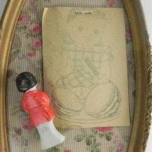 他の写真3:  【レトロ】ぬりえ&ビスクドールのセット