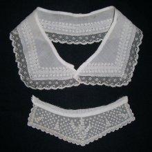 他の写真1: ヴィクトリアン・ホワイトワーク(白刺繍)ピース2枚