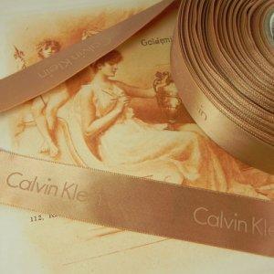 画像4: カルヴァン・クラインのサテンリボン 幅2.3cmx長さ1m分より〜