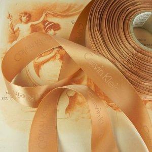 画像1: カルヴァン・クラインのサテンリボン 幅2.3cmx長さ1m分より〜