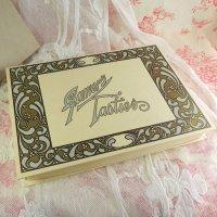 ヤドリギのイラスト、アンティーク・チョコレートボックス(未使用・デッドストック)