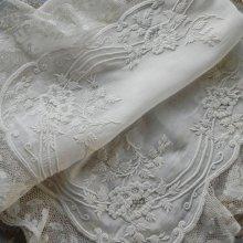他の写真2: ハリウッド・サイレント映画女優のホワイトワーク(白刺繍)ヴィクトリアン・ウェディング・ハンキー
