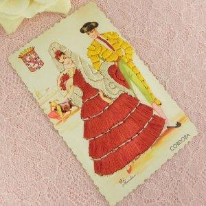画像3: スペインのシルク刺繍ポストカード
