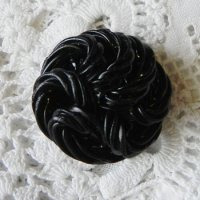 大きなセルロイドボタン(ブラック)