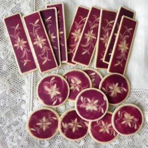画像5: フランス、ボーンアイボリーのカジノチップ(紫)