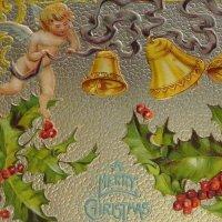 エンジェルとゴールドベルのクリスマスカード