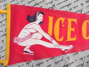 画像2: USA ヴィンテージ・タペストリー (アイススケート)
