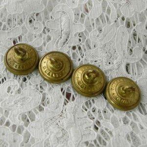 画像3: ミリタリーアカデミー、真鍮ボタン4個セット