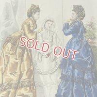 1800年代、フランス・ファッションプレート (銅板画)