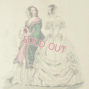 画像2: 1800年代、フランス・ファッションプレート (銅板画)