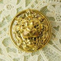 フランス、ライオンの真鍮ボタン