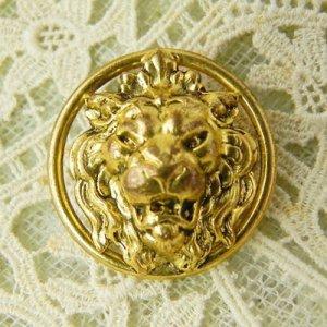 画像1: フランス、ライオンの真鍮ボタン
