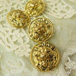 画像3: フランス、ライオンの真鍮ボタン