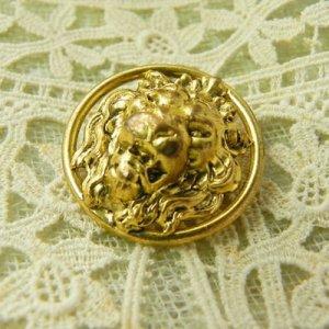 画像2: フランス、ライオンの真鍮ボタン