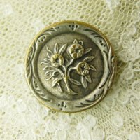フランス、お花のボタン
