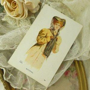 画像3: アンティークカード、エドワディアン・ビューティー