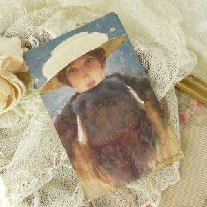 画像3: アンティークカード、うさぎ