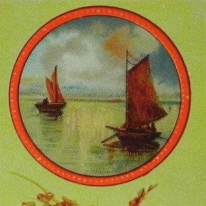画像1: アンティークカード、シップ
