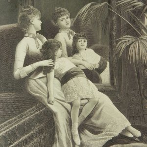 画像2: アンティーク、エングレーヴィング画 (銅板画)ミラー