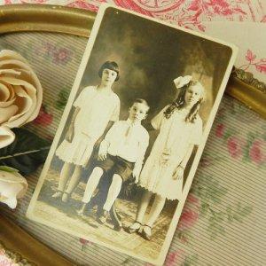 画像4: 3人兄弟のセピアカラーのフォトカード