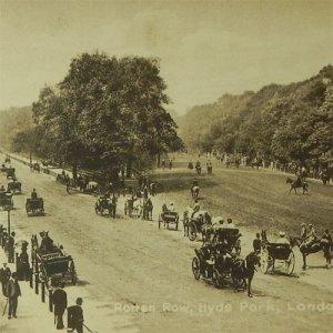 画像1: イギリス、アンティークカード、ロンドン、ハイドパーク、ロッテンロー