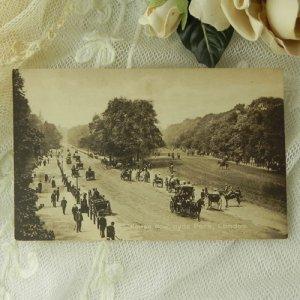 画像5: イギリス、アンティークカード、ロンドン、ハイドパーク、ロッテンロー