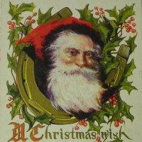 アンティークカード、クリスマス、サンタクロース